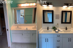 before and after bathroom sink remodel