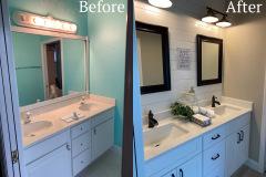 before and after bathroom vanity remodel